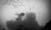 Wreck of the ATUN a Taiwanese tuna fishing vessel near Little Pidgin Island Papua New Guinea Little is known about the wreck scuttled in