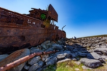 Wreck of the Plassy on Inis Orr Ireland