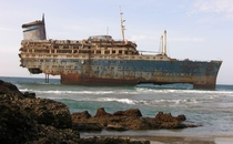 Wreck of the SS America  Fuerteventura Canary Islands