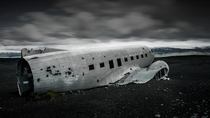 Wrecked DC Airplane in Iceland  by Benoit Malaussena