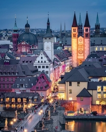 Wrzburg Germany at dusk