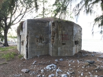 WW Bunker on the beach of Wake Island