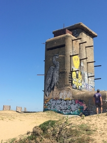 WW watchtower unsure if it was for french or German troops