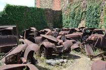 WWII Bombed out cars Oradour-Sur-Glane France