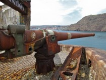 WWII-era gun guarding St Johns harbour NL