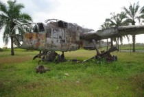 WWII plane left at an airfield - Popondetta Papua New Guinea