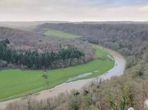 Wye Valley from Symonds Yat Rock viewpoint Forest of Dean United Kingdom