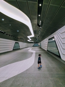 Wynyard Walk is a  meter long pedestrian tunnel in Sydney joining Wynyard Station to the harbourside suburb of Barangaroo