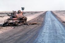 x A tanks last stand in Iraq following Operation Desert Storm