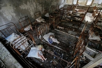 x About  miles from Chernobyl lies the city of Pripyat where this kindergarten was left to rot in the fallout