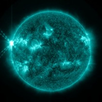 X-Class solar flare by Solar Dynamics Observatory