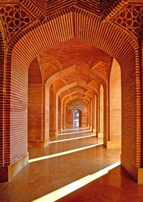 x-post from rExplorePakistan Corridors of the Shahjehan Mosque in Thatta Pakistan  by Muzaffar Bukhari