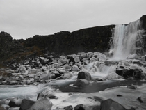 xarrfoss Icelands Frozen Waterfall Thingvellir National Park