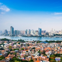 Xiamen Fujian China Known as one of the cleanest cities in China Xiamen is beautiful and a popular tourist destination for travelers