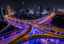 Yanan East Road Interchange Shanghai  By Jrmy