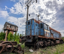 Yaniv abandoned rail station just south of Pripyat Chernobyl Exclusion Zone