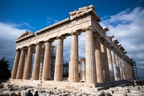YeahIts the Parthenon It is arguably the most recognized building int he world sitting atop the Acropolis in Athens