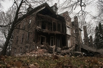 -year-old disused Seminary partially collapsed after a strong wind-storm Fenton MI US