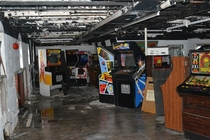Years ago these pics showed up in the arcade game circles An abandoned cruise ship full of classic arcade games You can read about it here httpsarcadebloggercomarcade-raid-the-duke-of-lancaster-ship