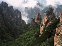 Yellow Mountains in Huangshan China
