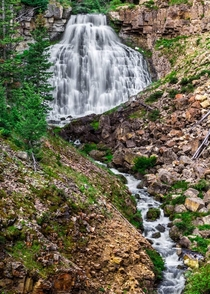 Yellowstone national park has so much to see A lot of it including this waterfall is visible from the side of the road