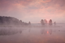 Yellowstone River sunrise Yellowstone Nationaal Park Wyoming x