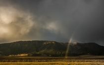 Yellowstones Lamar Valley on a stormy morning -