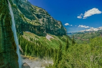 Yep the view from Bridal Veil Falls looking through the canyon in to Telluride checks out