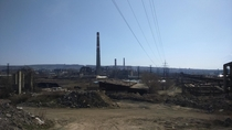 Yerevan Armenia the old soviet industrial district