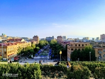 Yerevan City View from Cascade