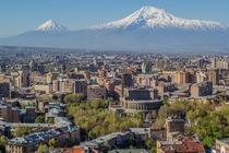 Yerevan skyline with Mount Ararat - Armenia