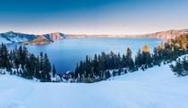 Yesterday Evening At Beautiful Crater Lake Oregon
