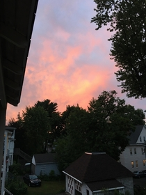 Yesterday I got my butt kicked by the Bar exam but at least there was a beautiful sunset
