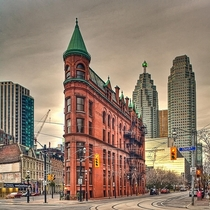 Yesterday I posted NYCs flatiron building Here is Torontos flatiron