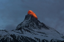 Yesterday morning I took a picture of the Matterhorn sometimes known as the Toblerone mountain Zermatt Switzerland