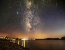 Yesterdays Perseid Meteor Shower as seen from Natchitoches Louisiana