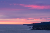 Yesterdays sunrise over the eastern edge of Banks Peninsula Canterbury New Zealand