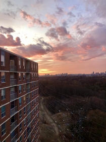 Yesterdays sunset from my balcony in Toronto Canada