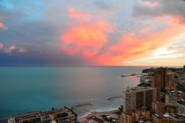 Yesterdays sunset in Monaco