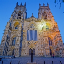 York Minster during blue hour