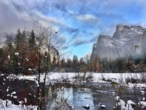 Yosemite after a fresh snowfall