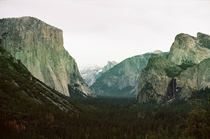 Yosemite as taken with a  year old film camera