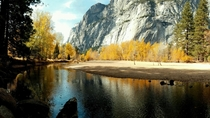 Yosemite CA riverside view