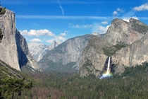 Yosemite California- Bridalveil Falls in the afternoon