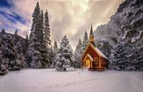 Yosemite Chapel In Winter  photo by William McIntosh