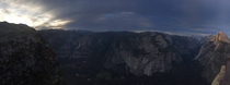 Yosemite Falls and Half Dome at Sunset