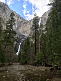 Yosemite falls  As long as I live Ill hear waterfalls and birds and winds sing Ill interpret the rocks learn the language of flood storm and the avalanche Ill acquaint myself with the glaciers and wild gardens and get as near the heart of the world as I c