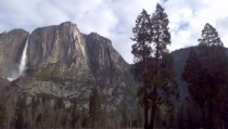 Yosemite Falls as seen from Yosemite Valley  x
