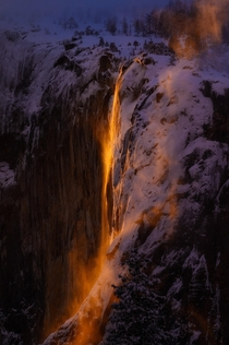 Yosemite Firefall California