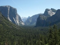 Yosemite- Half dome and Water fall  x